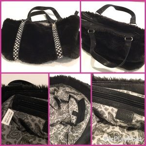 Charming  Charlie Black with Crystals Sachel.